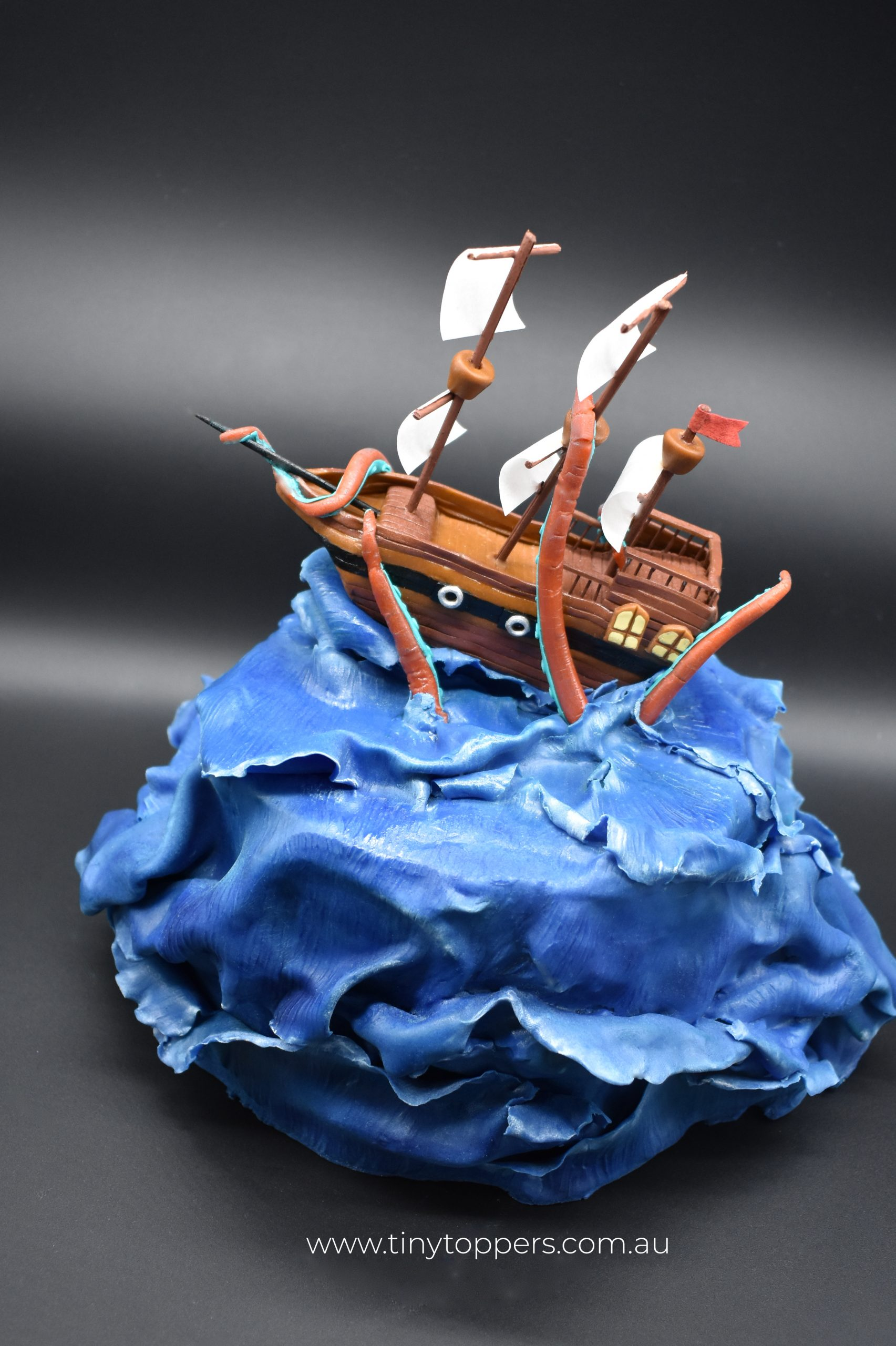 Ship & Octopus Cake