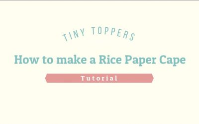 How to make a Rice Paper Cape